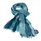 """Легкий шарф с небольшим """"жатым"""" эффектом F-04"""