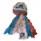 """Легкий шарф с небольшим """"жатым"""" эффектом F-42"""