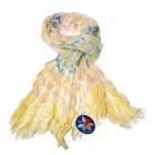 """Легкий шарф с небольшим """"жатым"""" эффектом Z-08"""