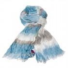 """Легкий шарф с небольшим """"жатым"""" эффектом Z-22"""
